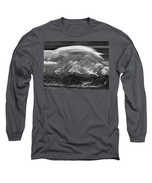 101366-lenticular Cloudcap Over Mt. Mckinley Long Sleeve T-Shirt