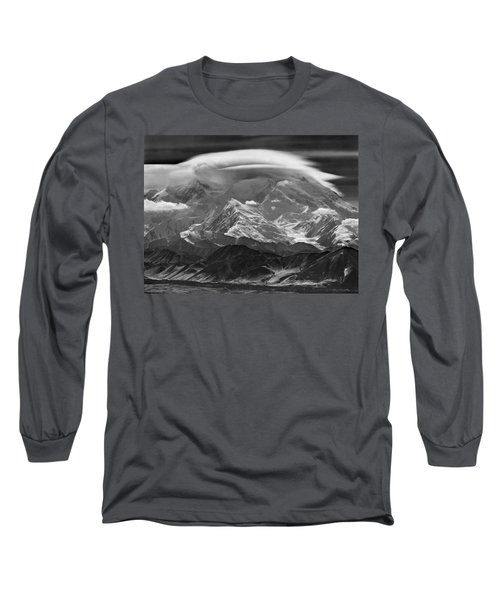 101366-lenticular Cloudcap Over Mt. Mckinley Long Sleeve T-Shirt