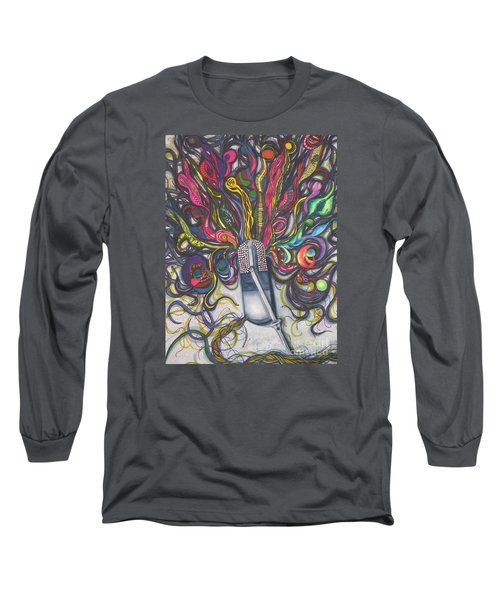Long Sleeve T-Shirt featuring the painting Let Your Music Flow In Harmony by Chrisann Ellis
