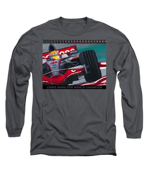 Lewis Hamilton F1 World Champion Pop Long Sleeve T-Shirt