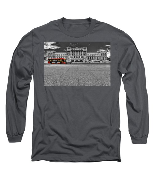 Long Sleeve T-Shirt featuring the photograph Library Of Congress by Peter Lakomy