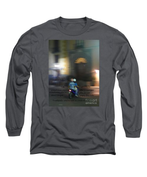 Life Zooms By  Long Sleeve T-Shirt by Nora Boghossian