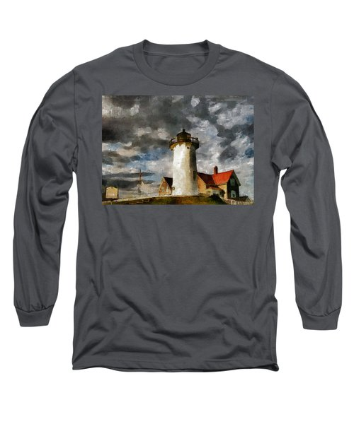 Light House In A Storm Long Sleeve T-Shirt
