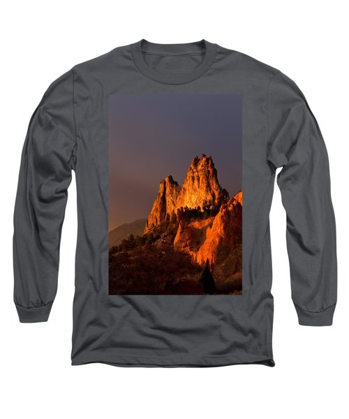 Long Sleeve T-Shirt featuring the photograph Light On The Rocks by Ronda Kimbrow