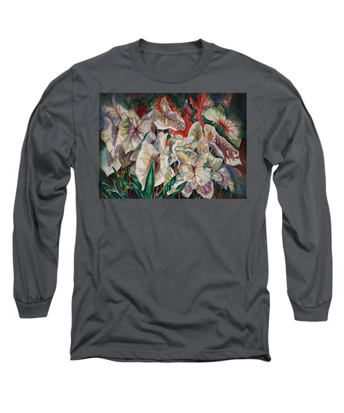Light Play Caladiums Long Sleeve T-Shirt