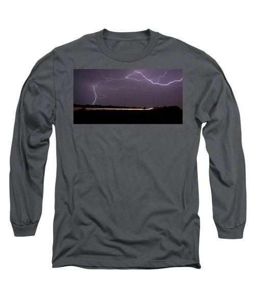 Long Sleeve T-Shirt featuring the photograph Lightening Bolts by Charles Beeler