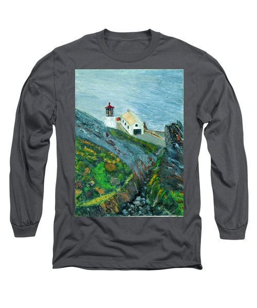 Lighthouse At Point Reyes California Long Sleeve T-Shirt