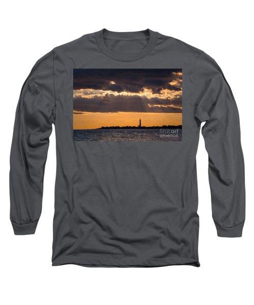 Lighthouse Sun Rays Long Sleeve T-Shirt