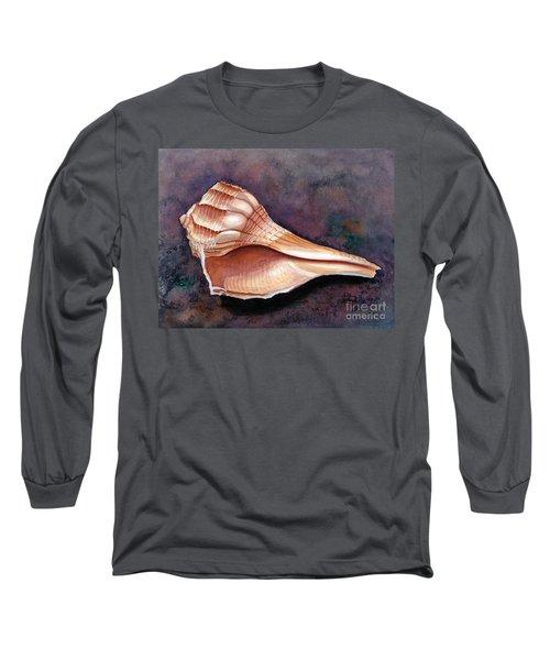 Lightning Whelk Long Sleeve T-Shirt by Barbara Jewell