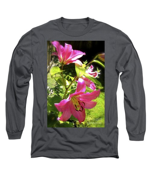 Lilies In The Garden Long Sleeve T-Shirt
