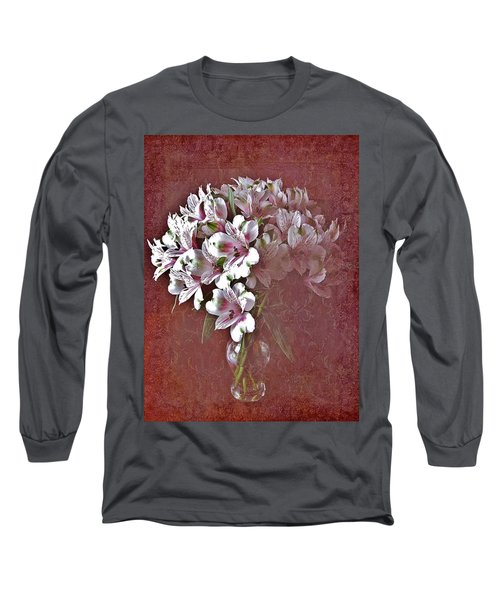 Long Sleeve T-Shirt featuring the photograph Lilies In Vase by Diane Alexander