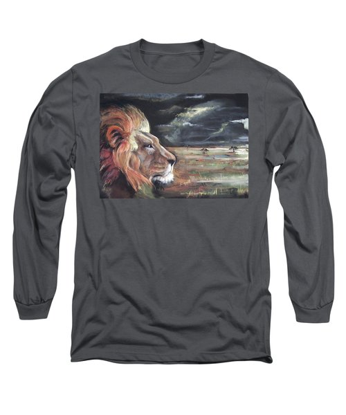 Lions Domain Long Sleeve T-Shirt by Peter Suhocke
