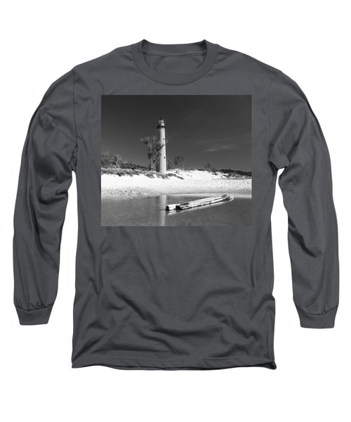 Litle Sable Light Station - Film Scan Long Sleeve T-Shirt by Larry Carr