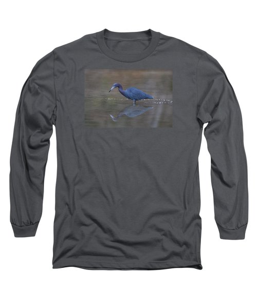 Little Blue Bubbles Long Sleeve T-Shirt by Paul Rebmann