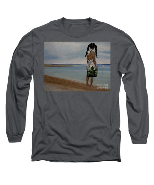 Little Girl On The Beach Long Sleeve T-Shirt