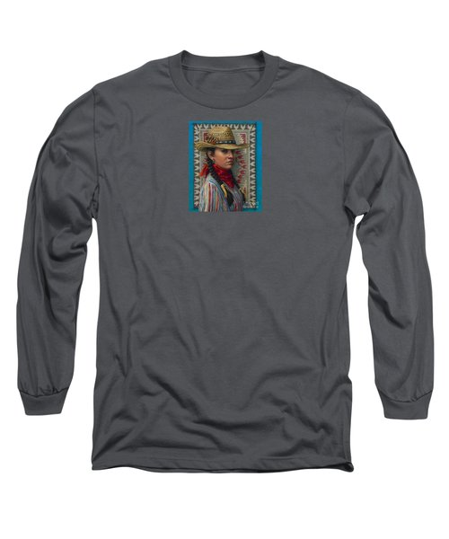 Long Sleeve T-Shirt featuring the painting Little Rising Hawk by Jane Bucci