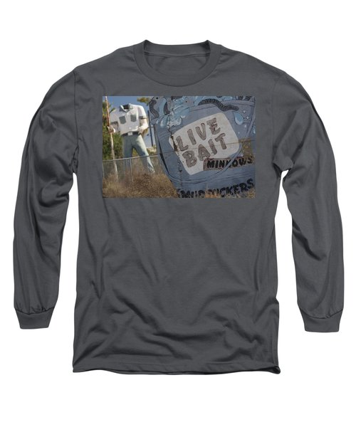Live Bait And The Man Long Sleeve T-Shirt