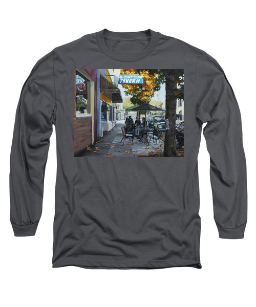 Long Sleeve T-Shirt featuring the painting Local Color by Karen Ilari
