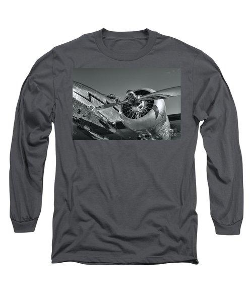 Lockheed 12a Electra Junior  Long Sleeve T-Shirt by Olga Hamilton