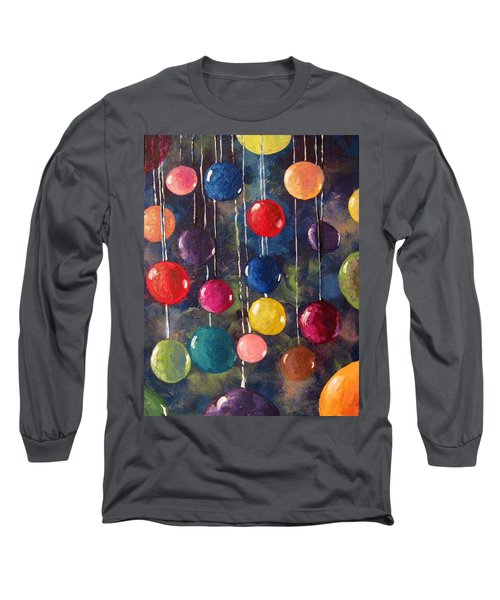 Long Sleeve T-Shirt featuring the painting Lollipops Or Balloons? by Megan Walsh