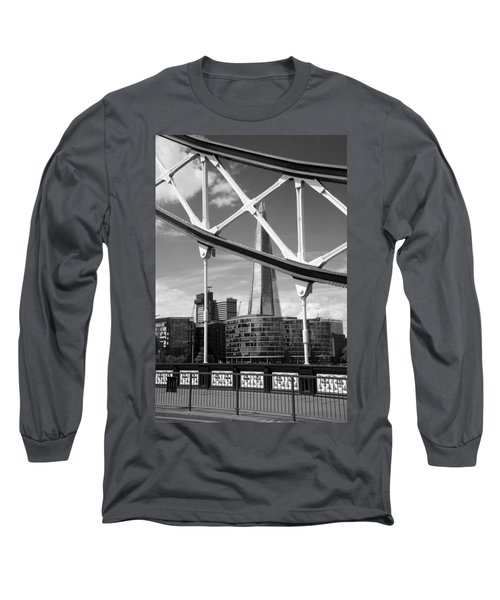 Long Sleeve T-Shirt featuring the photograph London Bridge With The Shard by Chevy Fleet