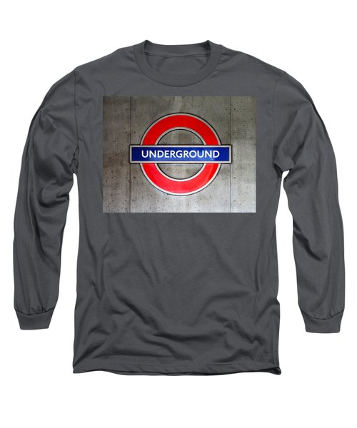 London Underground Sign Long Sleeve T-Shirt
