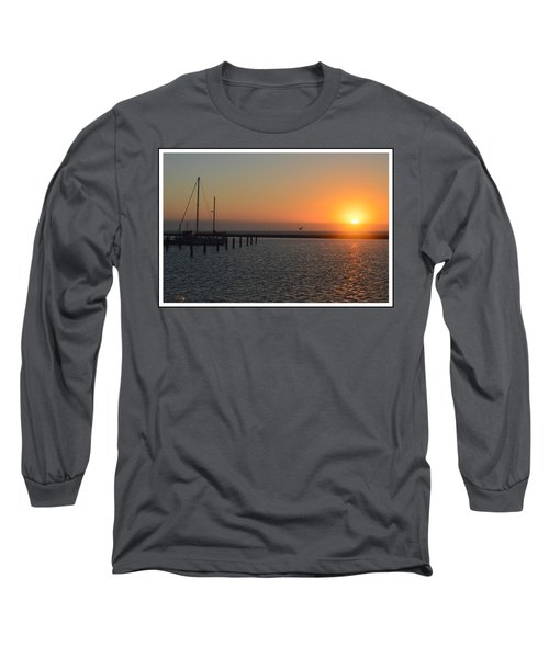 Lone Bird At The Marina Long Sleeve T-Shirt