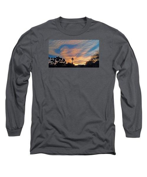 Lone Sentry Morning Sky Long Sleeve T-Shirt by Jay Milo