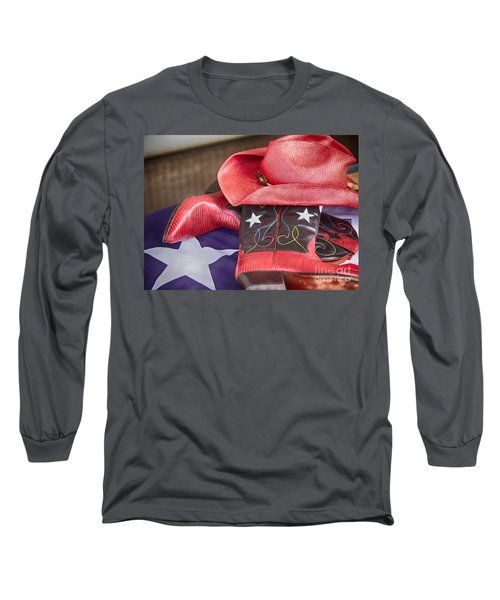 Lone Star Gal 2 Long Sleeve T-Shirt by Erika Weber