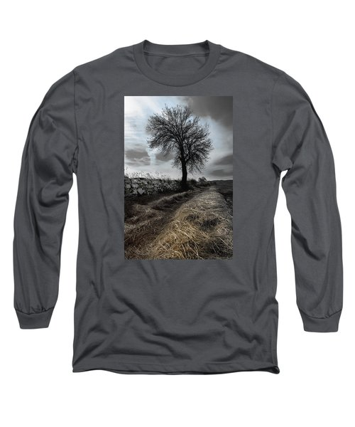 Long Sleeve T-Shirt featuring the photograph Lone Tree by Edgar Laureano