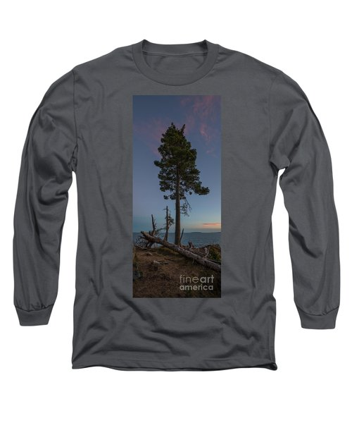 Lonely Tree Overlooking The Ocean Long Sleeve T-Shirt