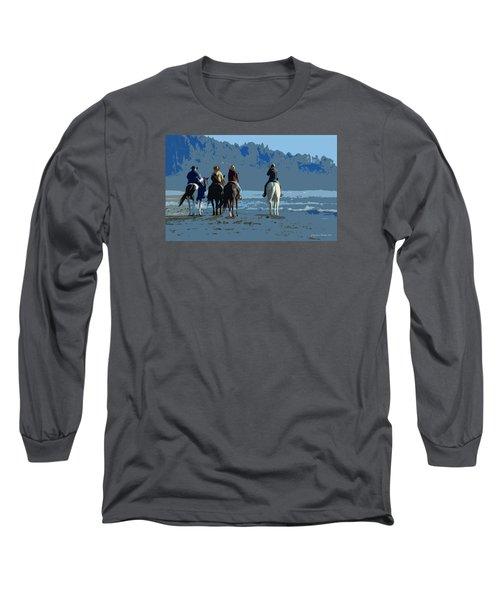 Long Beach Horses Study					 Long Sleeve T-Shirt