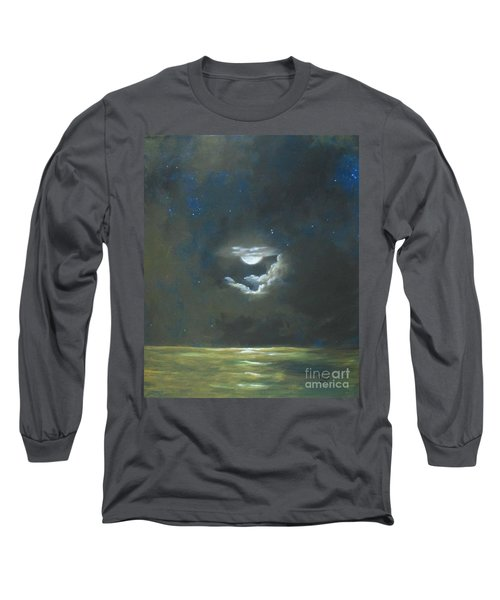 Long Sleeve T-Shirt featuring the painting Long Journey Home by Marlene Book