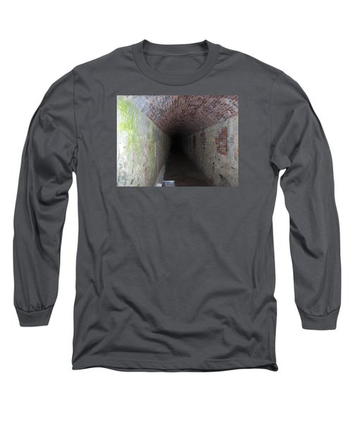 long tunnel in Ft Adams Long Sleeve T-Shirt by Catherine Gagne