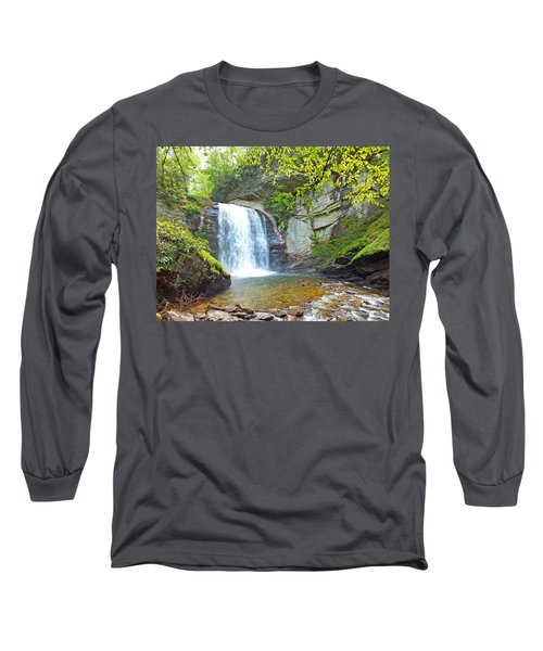 Looking Glass Waterfall In The Spring 2 Long Sleeve T-Shirt