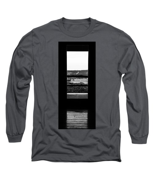 Long Sleeve T-Shirt featuring the photograph Looking Out A Country Door. by Darryl Dalton