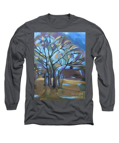 Looks Like Mondrian's Tree Long Sleeve T-Shirt