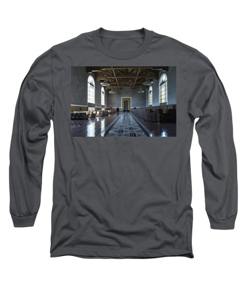 Los Angeles Union Station - Custom Long Sleeve T-Shirt by Belinda Greb