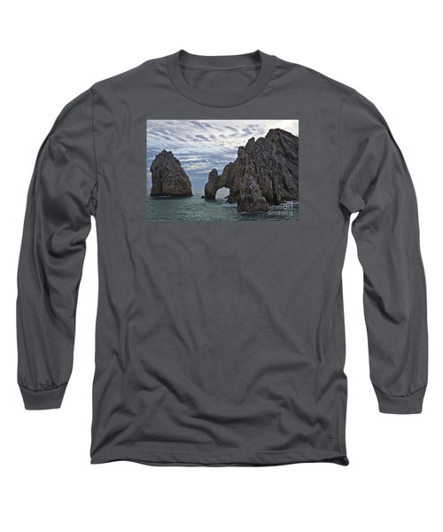 Los Arcos In Cabo San Lucas Long Sleeve T-Shirt by Loriannah Hespe
