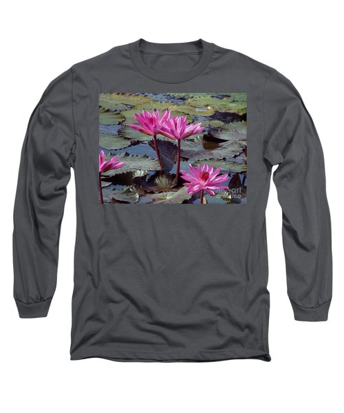 Long Sleeve T-Shirt featuring the photograph Lotus Flower by Sergey Lukashin