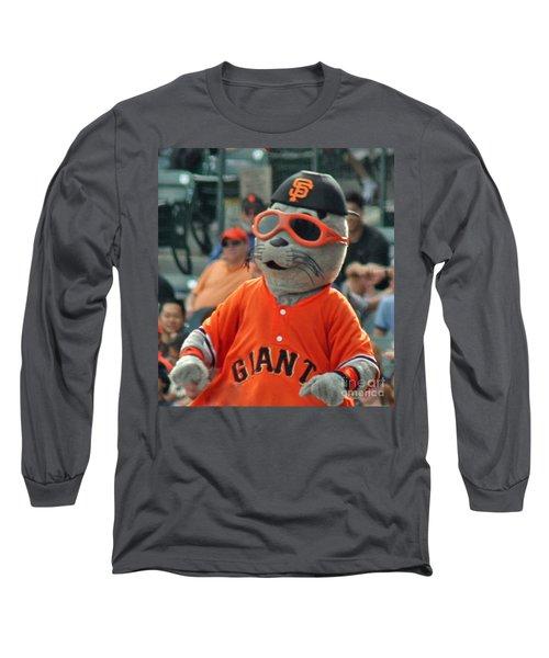 Lou Seal San Francisco Giants Mascot Long Sleeve T-Shirt
