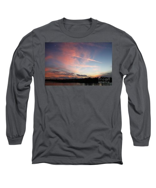 Louisiana Sunset In Lacombe Long Sleeve T-Shirt