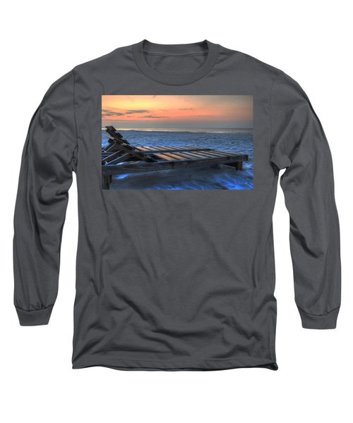 Lounge Closeup On Beach ... Long Sleeve T-Shirt