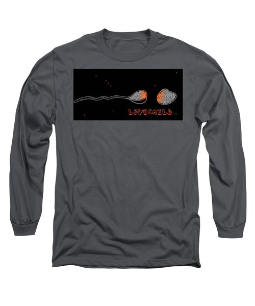 Long Sleeve T-Shirt featuring the drawing Love Child by Cleaster Cotton
