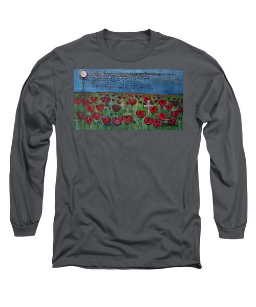 Love For Flanders Fields Poppies Long Sleeve T-Shirt