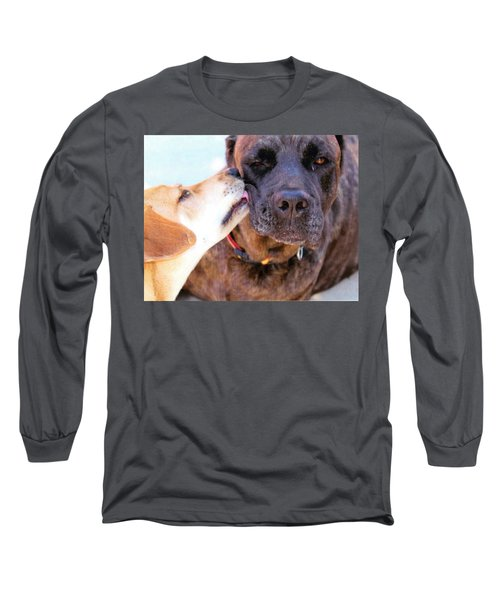 Long Sleeve T-Shirt featuring the photograph Love Licks by Janice Rae Pariza
