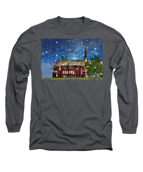 Lovely Country Church Long Sleeve T-Shirt by Liane Wright