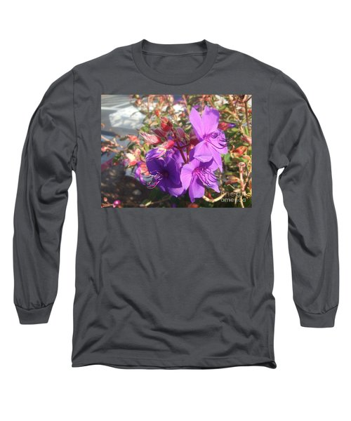 Long Sleeve T-Shirt featuring the photograph Lovely Purple Flower by Jasna Gopic