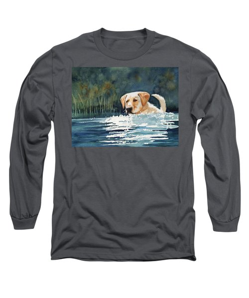 Loves The Water Long Sleeve T-Shirt by Marilyn Jacobson