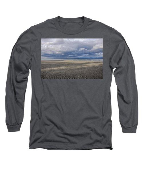 Low Tide Sandscape Long Sleeve T-Shirt by Roxy Hurtubise